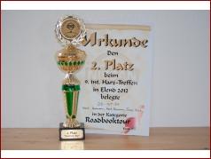 9. int. Harztreffen 2012 - 2. Platz Roadbook-Tour