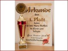 10. Int. Harztreffen 2013 - 1. Platz Geschicklichkeitsspiele